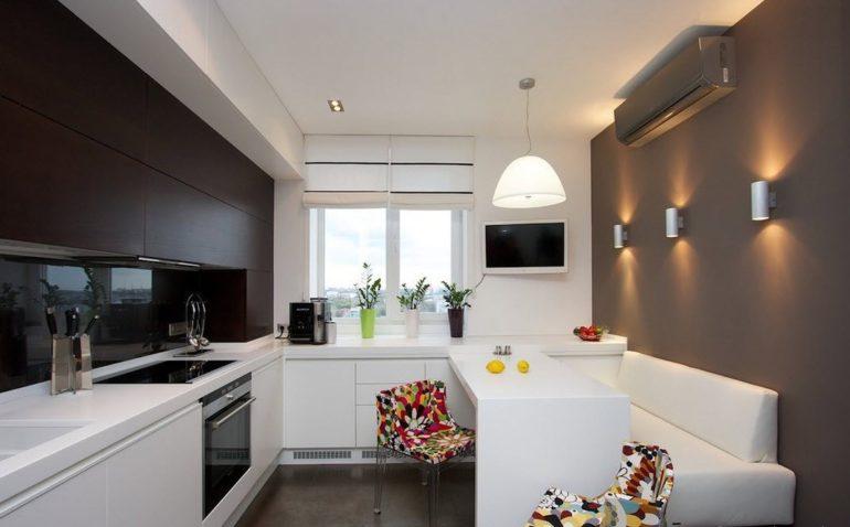 Интерьер прямоугольной кухни 10 кв.м фото
