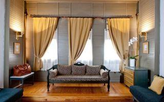 Модели коротких штор для гостиной и зала