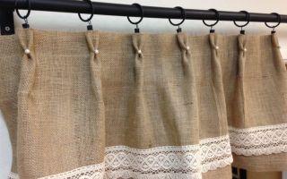 Шторы из мешковины: простота, уют и стиль