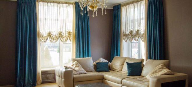 Австрийские шторы для гостиной: внедряем классику в современный стиль