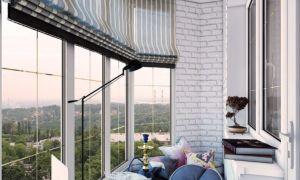 Оформляем окна на балконе римскими шторами