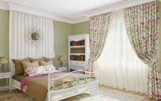 Шторы для спальни в стиле прованс: легкое и непринужденное оформление окна
