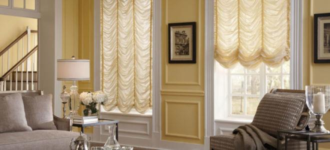 Французские шторы: роскошное убранство в интерьере с фото