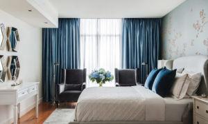 Синие шторы в интерьере: спокойствие и благородство цвета