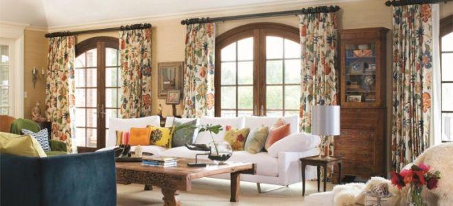 Шторы кантри для вашего дома: простота кроя и изысканность тканей
