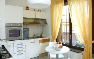 Выбираем тюль для кухни: современные новинки с фото