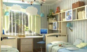 Короткие шторы для детской комнаты мальчика и девочки