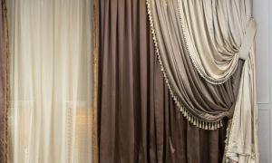 Двойные шторы: необычный способ оформления окон с подборкой фото