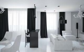 Черно-белые шторы: строгое сочетание для смелых идей