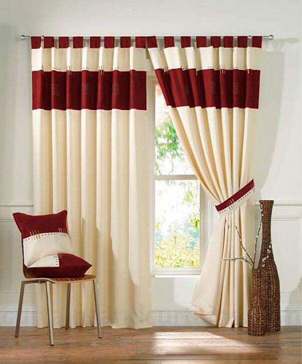 Классические шторы с петлями