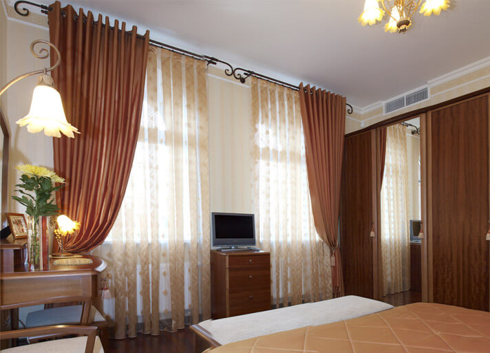 шторы с тюлью