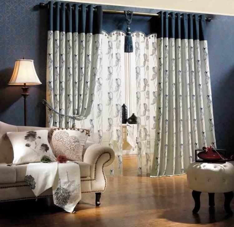 контрастные классические шторы