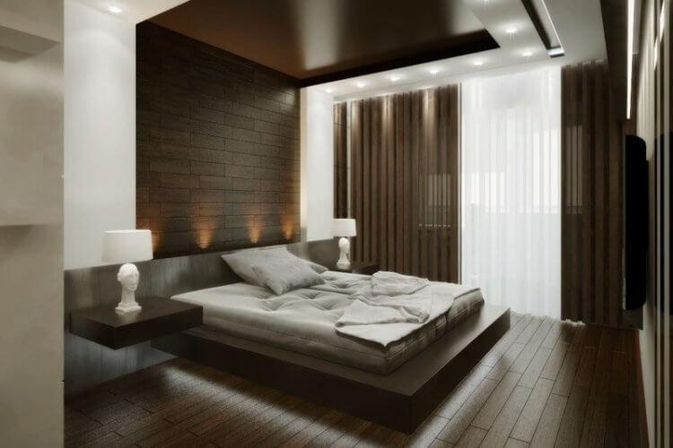 коричневые шторы хай тек