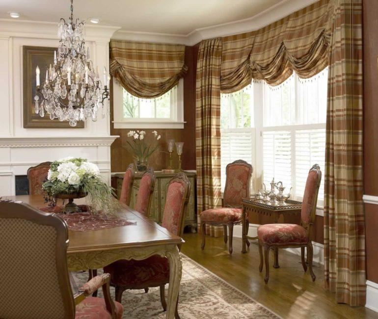 Английские шторы гостиная