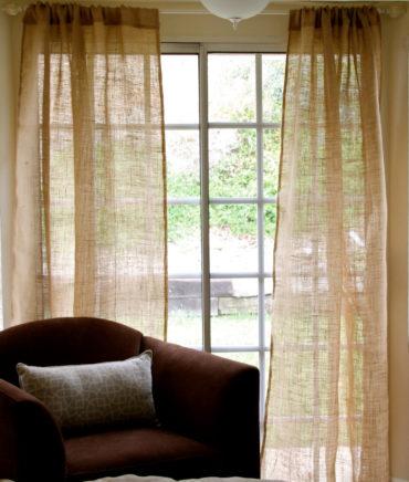 Льняные шторы прозрачные