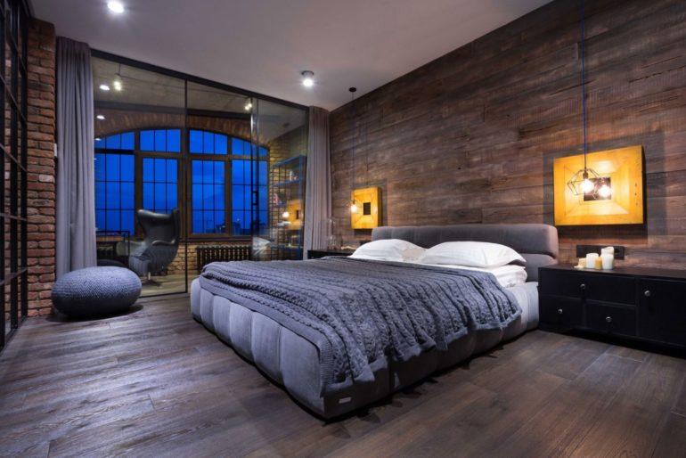 спальня синяя