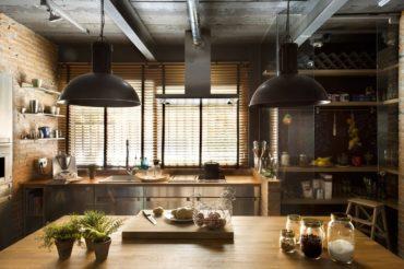 лофт кухня жалюзи