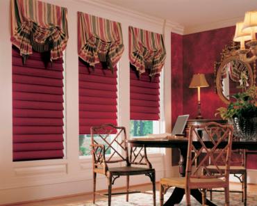 английские шторы с римскими