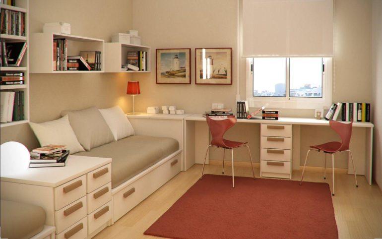 Белые рулонные шторы в комнату девочки