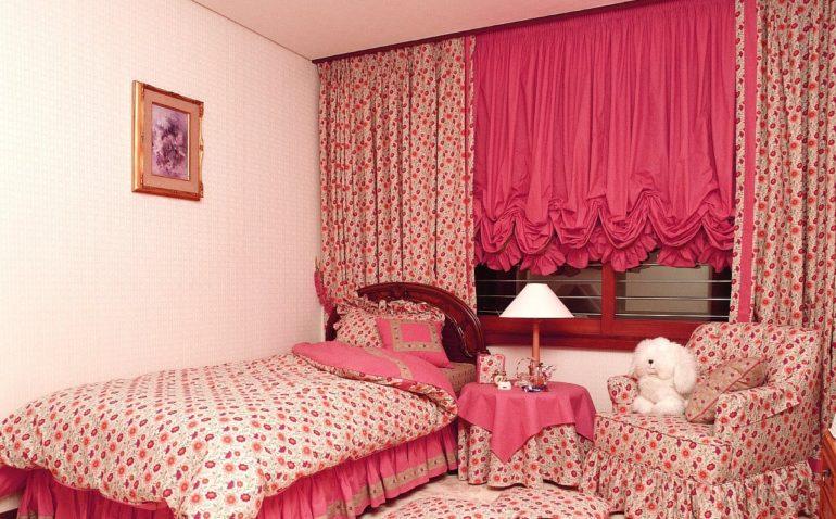 французкие шторы в комнату девочки подростка