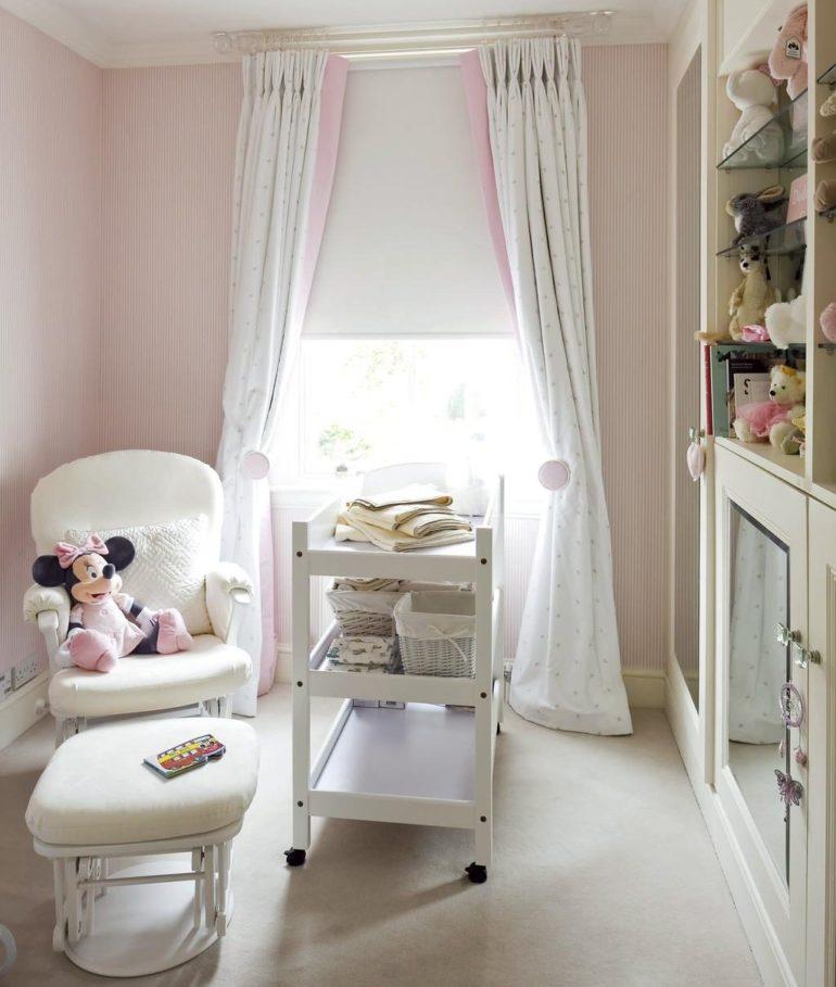 Для детской новорожденного выбирайте светлые пастельные тона