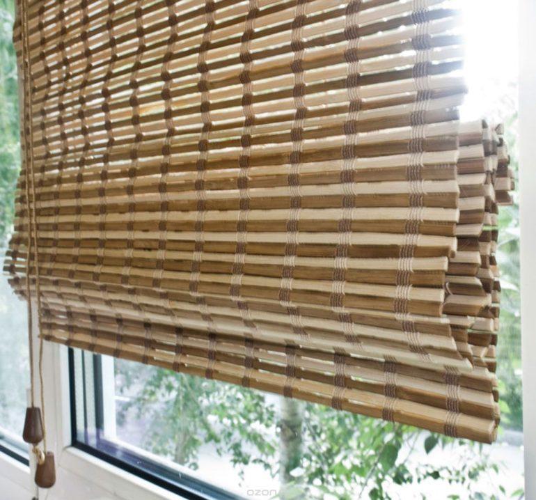Шторы из бамбука не переносят влажную уборку