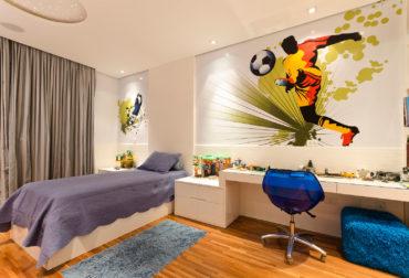 Спортивныое оформление комнаты