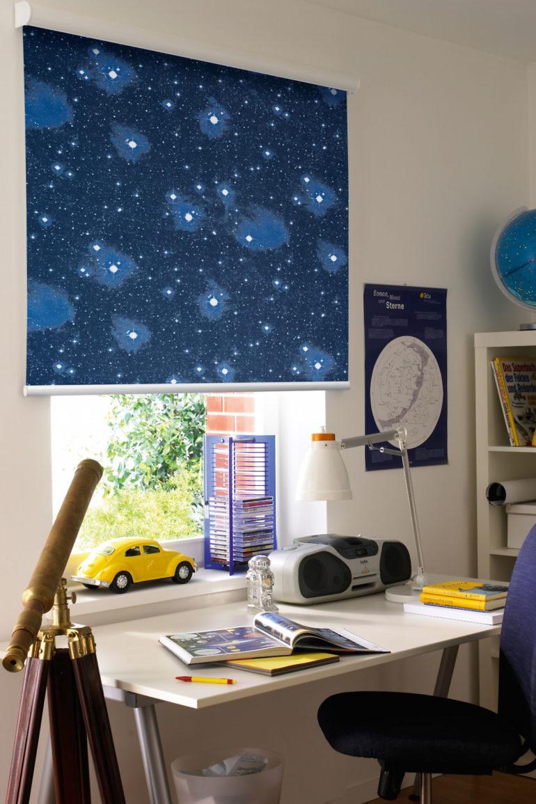 звездное небо на шторах