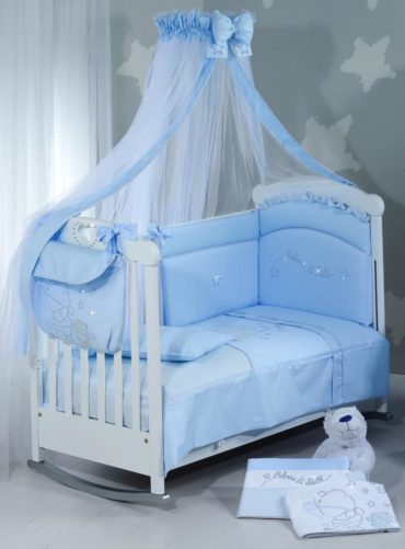 для детской мальчика голубая кроватка