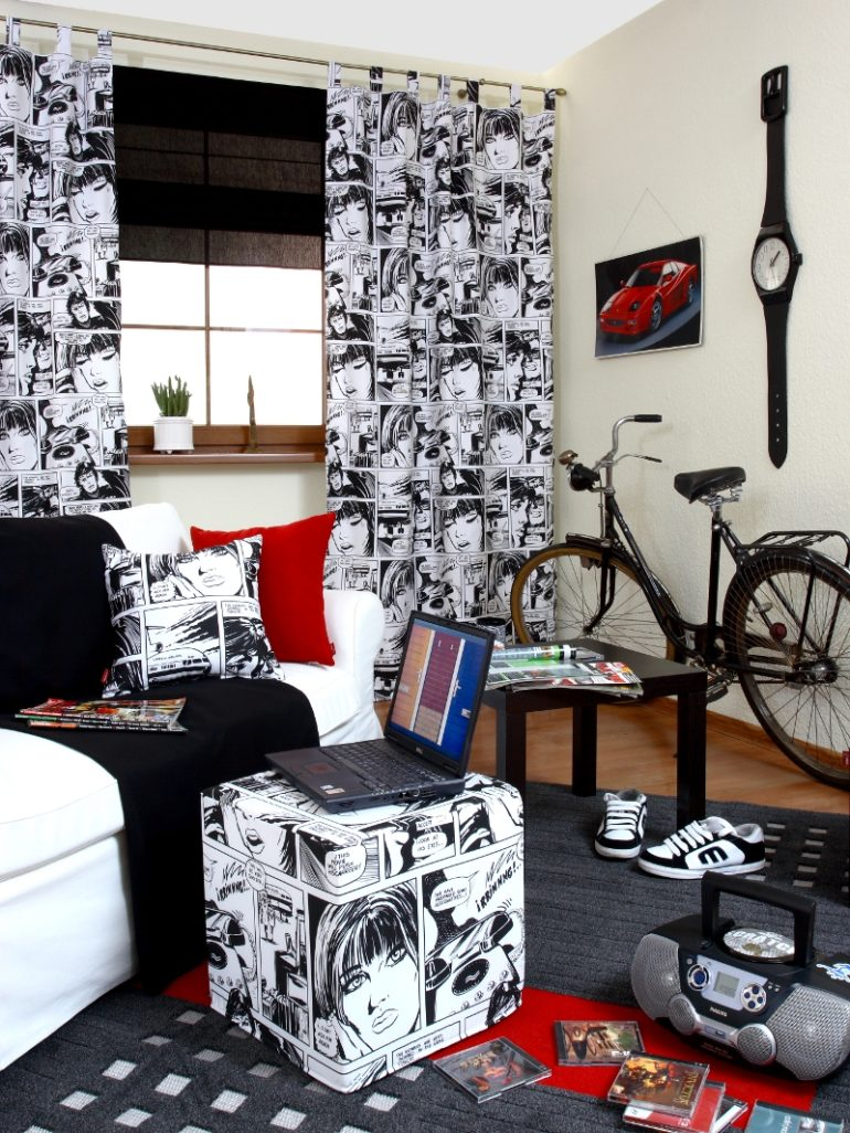 фото шторы в подростковой комнате