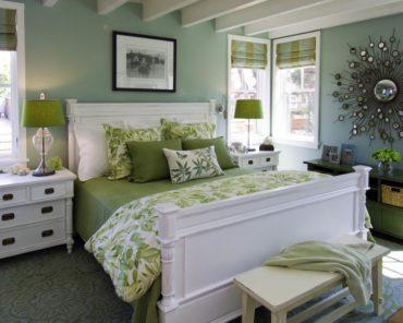 оливковая гамма для спальни