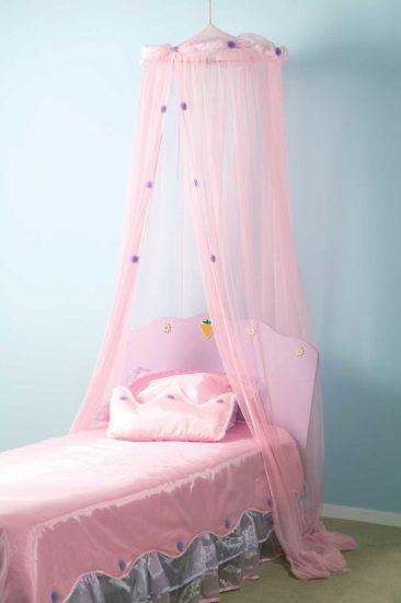 розовые балдахин сетка для девочки