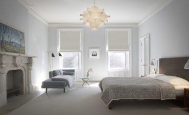 серый плед и серый диван