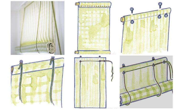 Этапы изготовления рулонных штор с боковым шнуром