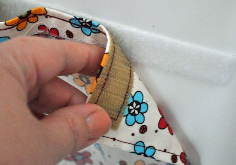 Липучка-лучший способ крепления самодельной рулонной шторы