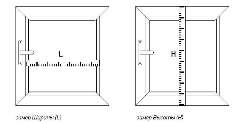 Перед тем как делать замеры нужно определиться, в какой части окна будет висеть ролета - внутри проема или снаружи