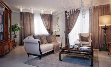 антикварная мебель в зале