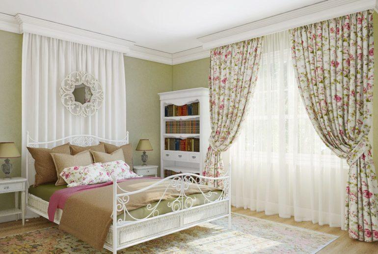 главная для прованс спальня