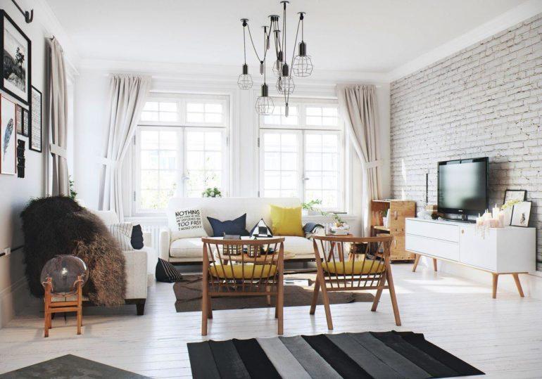Для скандинавских штор не требуются роскошные украшения, главный их девиз - простота, легкость и изысканность
