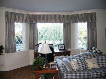 классические шторы короткие