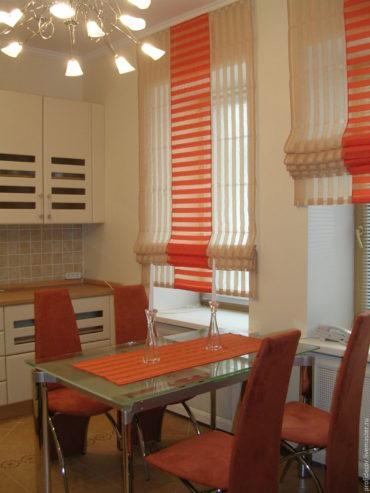 оранжевый цвет для кухни