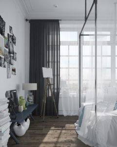прозрачные занавески кровать с балдахином