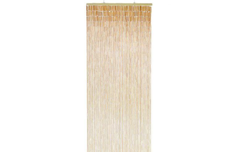Бамбуковые шторы висюльки крепятся на деревянную планку, которая в последствии вешается на стену при помощи металлических колец