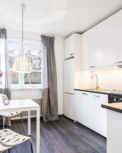 скандинавская кухня белый гарнитур