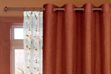 терракотовая ткань для портьер