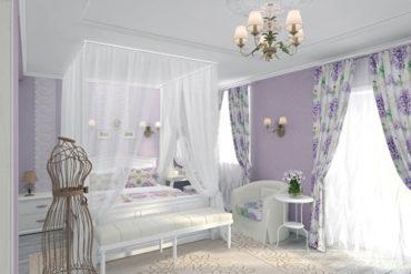 цвет лаванды в комнате