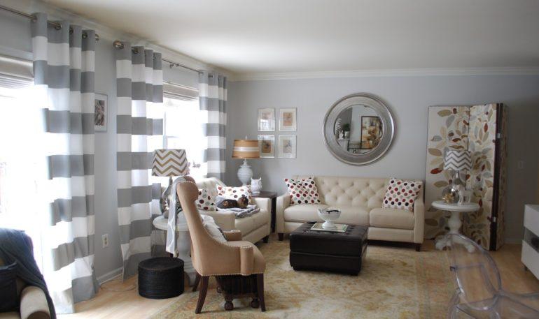 Серый цвет по своей натуре носит успокаивающий эффект, но его не должно быть слишком много в интерьере и поэтому его следует разбавлять белыми и кремовыми оттенками