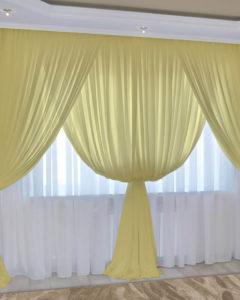 бело-желтый тюль