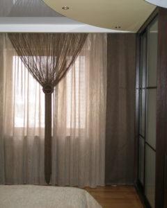 двойные шторы с кисеей