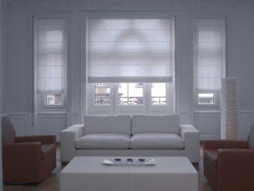Кожанная красно-белая мебель